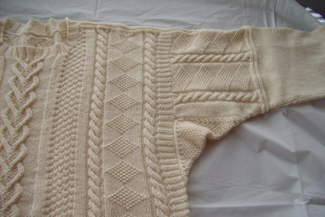 Flamborough gansey in wool/cotton blend
