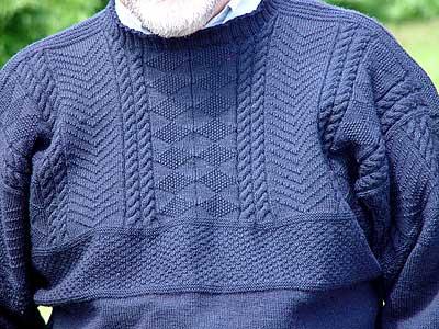 Knitting Pattern Gansey Sweater :  Llandrindod    Gansey Nation