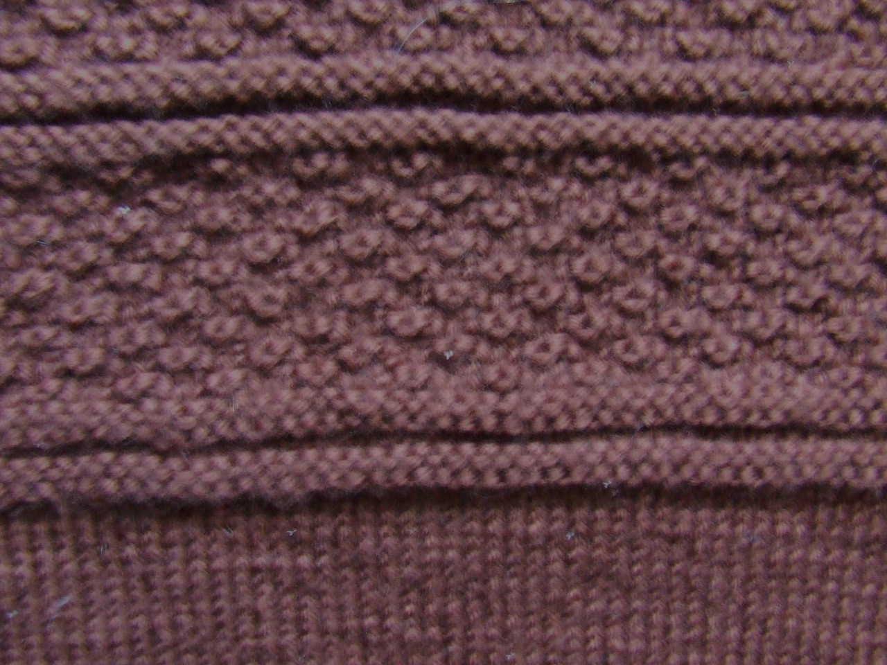 Brown gansey detail